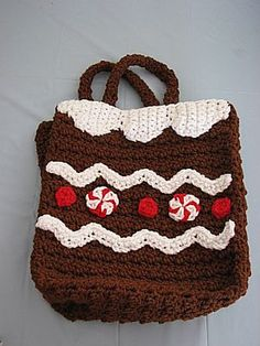 Gingerbread gift bag--like this idea and its my fave color combo but i'd do it just a bit dif
