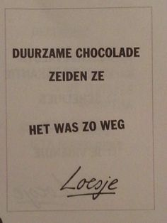 Chocolade duurzaam ??