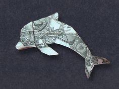 34 new Ideas for origami paper fish dollar bills Origami Star Paper, Origami Bowl, Origami Fish, Origami Paper, Oragami, Origami Templates, Money Origami Tutorial, Paper Folding Art, Dollar Bill Origami