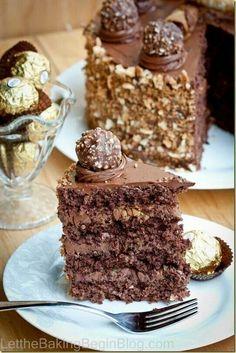 Yum! Forrero Rocher cake