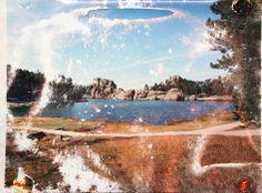 Matthew Brandt - Sylvan Lake. Used lake water to create this.