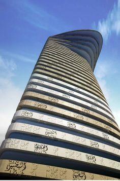 Father and Son Skyscraper / IAMZ Studio, futuristic architecture, future building
