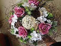 Kytica ružovo- biela  / anad333 - SAShE.sk - Handmade Dekorácie