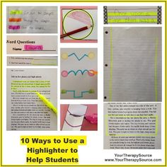 10 Ways to Use a Highlighter to Help Students