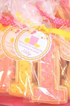 Set of 12 Personalized  Pink Lemonade Birthday by ciaobambino, $6.00