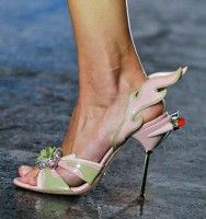 Shoes: Prada Spring 2012 - they have rockets, flames, wings - hot hot hot!