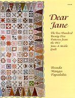"""Dear Jane : The Two Hundred Twenty-Five Patterns from the 1863 Jane A. Stickle Quilt book by Brenda M. Papadakis - pieced, 4"""" blocks, civil war reproduction"""
