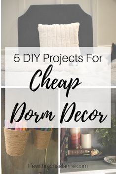 It's often cheaper, more unique, and more meaningful to have DIY decor in your room. l love these 5 DIY Projects for Cheap Dorm Decor that I made for my dorm! Cheap Dorm Decor, Dorm Decorations, Retro Home Decor, Unique Home Decor, Home Decor Inspiration, Decor Ideas, Decorating Ideas, Room Ideas, Home Improvement Projects
