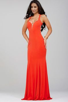 Trumpet/Mermaid Spaghetti Straps Court Train Red Prom/Evening Dress with Open Back