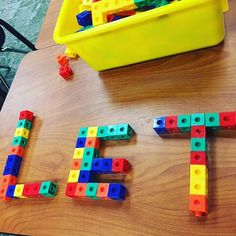 SIGHT WORDS Using cubes to learn sight words.How fun ! From Mrs. Kadeen Teaches on Instagram.