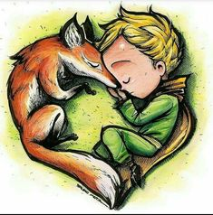 Oh how i love this little Prince and his fox. Prince Drawing, Little Prince Fox, Prince Tattoos, Funky Art, Character Design Animation, Fox Art, Illusion Art, Pattern Wallpaper, Emo