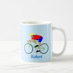 Bicycle Cyclist Cycling Sports Custom Name Coffee Mug   womens cycling, cycling photography, cycling lovers #liegebastogneliegefemmes #Stampen #VCServiceCourse, 4th of july party Cycling T Shirts, Cycling Gear, Road Cycling, Cycling Motivation, Cycling Quotes, Vintage Cycles, 4th Of July Party, Custom Mugs, Motorcycle Tips
