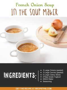 french onion soup recipe via my favourite #soupmaker :)