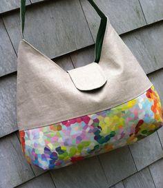 Colorful Summer Linen Handbag