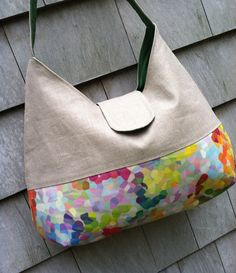 527b1cb1a326 Items similar to Colorful Summer Linen Handbag on Etsy