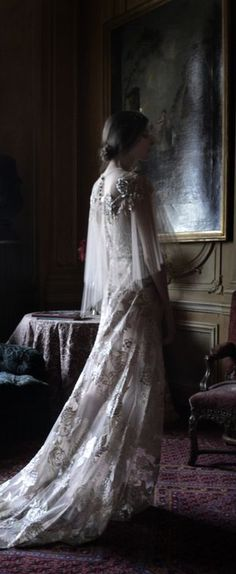 Waiting, her reflection casting shadows like a ghost. Some Enchanted Evening, Dark Castle, Art Gallery Wedding, Haunted Dolls, Elegant Dining, House On A Hill, Glamour Photography, Historical Clothing, Lady