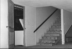BASEMENT / Basement stairs in the Clutter family home Kansas, In Cold Blood, Basement Stairs, Gangsters, Serial Killers, True Crime, Cellar, Clutter, Families