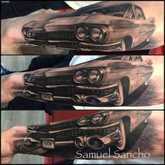 Cadillac by @samuelsancho  to be continued in wantedtattoo...