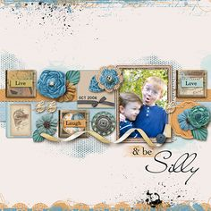"""Congratulations to marnie4two for her layout """"Live, Laugh, Love and be Silly"""". This fantastic layout was voted LOTW for November 14 by the scrappers on our site."""