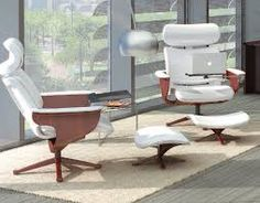 Add style and comfort to your office space with the unmistakably bold Nuvem white leather executive chair. Get this executive recliner at OfficeChairsUSA. High Back Chairs, Executive Chair, Teak Wood, Leather Cover, Timeless Design, White Leather, 3 D, Upholstery, Furniture Design