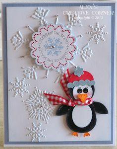 Alex's Creative Corner: Little Penguin Snowy Punch Art Card