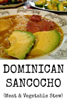 Sancocho is a traditional Dominican stew made typically with seven meats, root vegetables, and lots of love! Get the delicious Sancocho recipe here! Comida Boricua, Boricua Recipes, Mexican Food Recipes, Soup Recipes, Dinner Recipes, Cooking Recipes, Ethnic Recipes, Dutch Recipes, Amish Recipes
