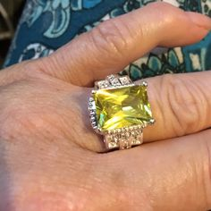Bright yellow citrine ring Gorgeous bright yellow citrine set in sterling silver Jewelry Rings