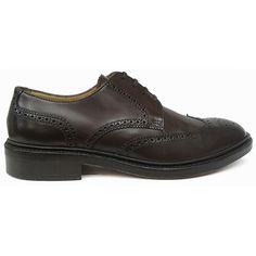 Zapato blucher con pala vega y picado maría en color marrón burdeos de Lottusse vista lateral