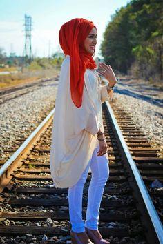 how to wear a pashmina hijab