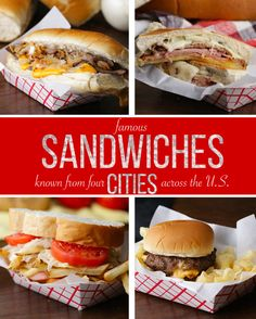 4 Famous Sandwiches from 4 Cities   4 Famous Sandwiches from 4 Cities
