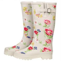 floral wellies! #floral #rain #boots #wellies