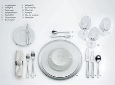 """Der """"richtig"""" gedeckte Tisch www.daskochrezept.de"""