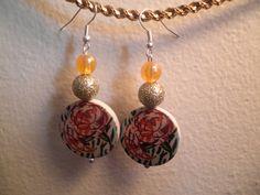 Earrings 103 Autumn Roses by AllMyEarrings on Etsy