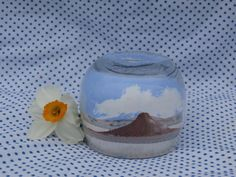 Sand Art Bottle Vintage Desert Scene, Small Size by MendozamVintage on Etsy