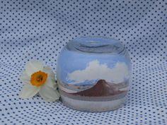 Sand Art Bottle Vintage Desert Scene, Small Size by MendozamVintage on Etsy
