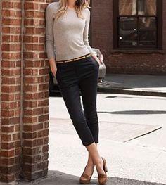 J. Crew Women's Black Slim Skinny Stretch Cotton Crop Pants Size 0 #JCrew #CaprisCropped