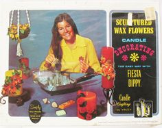 New NOS VTG Sculpted Wax Flowers Candle Crafting Decorating Kit Yaley Fiesta Dippy Hands On Craft Making Box by eclecticka on Etsy