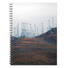 Windmills in the distance 3 note book http://www.zazzle.com/windmills_in_the_distance_3_note_book-130885728071365507?utm_content=buffer18ba1&utm_medium=social&utm_source=pinterest.com&utm_campaign=buffer #windmill #notebooks