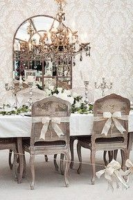 wrap chairs in ribbon