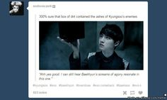 Gotta say I laughed way more than I should have especially since my bias's ashes r in that box