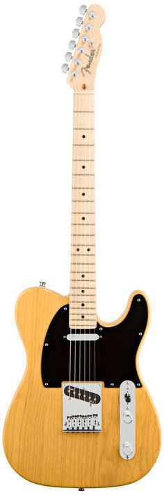 Fender American Deluxe Tele Ash Electric Guitar, Butterscotch Blonde, Maple Fretboard. A compound allows exhilaratingly effortless string bending anywhere along the neck. New N3 noiseless pickups provide improved Telecaster tones for snappy bell-like chime with no hum. S-1 switching offers even more knockout tonal options. Hi Tech Molded SKB Case, Cable, Strap, and Strap locks included.