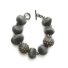 AGENA oxidized silver bracelet   Milena ZU