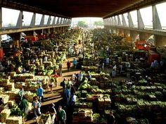 Ceagesp is the largest wholesale Farmer's Market in São Paulo, Brazil trades 250 thousand tons every month