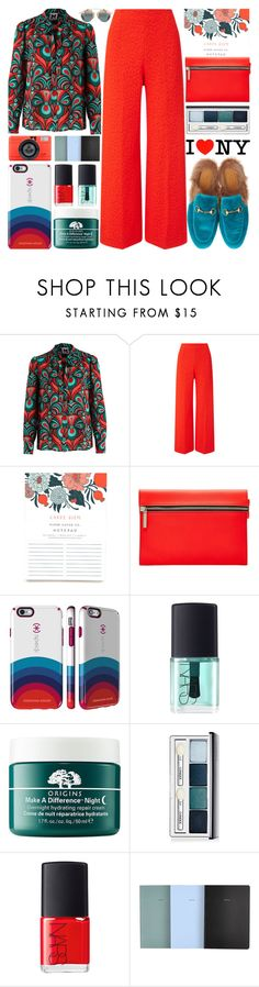 """Fall Trend"" by barbarela11 ❤ liked on Polyvore featuring Roland Mouret, Victoria Beckham, Speck, NARS Cosmetics, Origins, Clinique and School of Life"