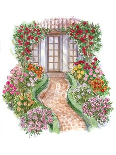 colourful front yard garden plans...                                                                                                                                                                                 More