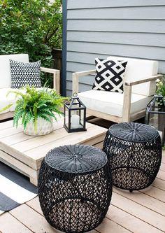 Outdoor Living Furniture, Backyard Furniture, Backyard Patio Designs, Backyard Ideas, Pergola Ideas, Easy Patio Ideas, Small Patio Design, Deck Design, Backyard Landscaping