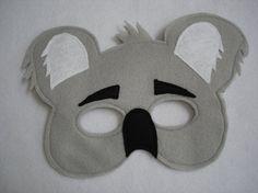 Máscara fieltro infantil KOALA por magicalattic en Etsy, $12.50