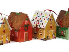 Christmas Die Cut Sweet House Treat Boxes Christmas Gingerbread House, Christmas Crafts, Handmade Crafts, Diy Crafts, Plastic Animals, Craft Shop, Homemade Gifts, Projects To Try, Sweet Home