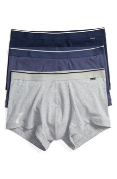 New Nordstrom Men's Shop 3-Pack Stretch Cotton Trunks ,CRANBERRY fashion online. [$34.5]top10shopping top<<