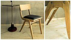 Prawdziwa rzadkość. Krzesło tapicerowane, typ 299XB, model eksportowy z Gościcińskiej Fabryki Mebli. Zakładu, który w latach 60. XX wieku w swoje meble zaopatrywał USA, Kanadę, Szwecję, Niemcy, Włochy, Anglię, Francję i Holandię. Więcej na https://www.mybaze.com/pl/hogofogo